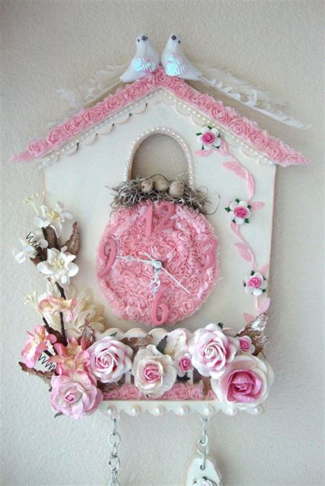 Segiempat Shabby Chic 8 cuckoo clock shabby chic for sale at my etsy shop my shabby chic creations for sale