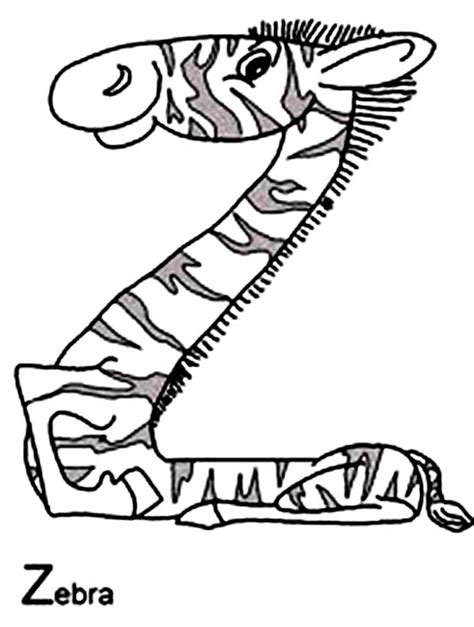 zebra z coloring page alphabet with animals coloring pages z is for zebra