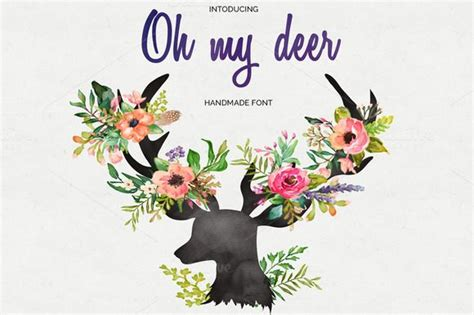 Oh My Deer Handmades - oh my deer handmade font by themes co on creative