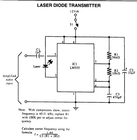laser diode wiring diagram laser related power supplies and data transmission