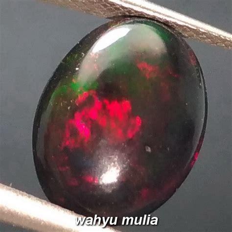 Opal Kalimaya 2 5ct batu akik black opal kalimaya hitam jarong asli kode 876
