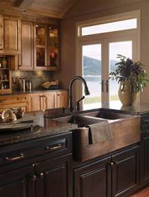 farmhouse kitchen island when and how to add a copper farmhouse sink to a kitchen