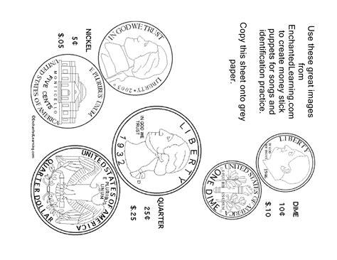 free printable quarter coin money puppets creative preschool resources
