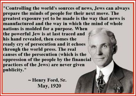 Henry Ford Anti Semitism Henry Ford Quotes On Jews Quotesgram