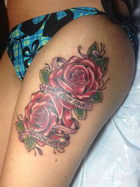 thigh tattoos of roses thigh tattoos designs ideas and meaning tattoos