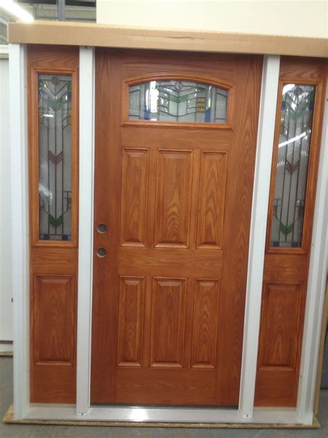 exterior doors masonite door masonite 36 in x 80 in everland cianne 3 4 oval cherry left hand inswing
