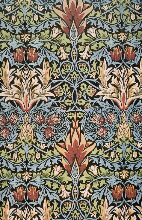 snakeshead printed textile 1876 william morris