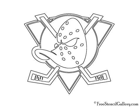 anaheim ducks coloring pages nhl anaheim mighty ducks logo stencil free stencil gallery