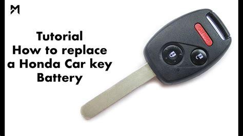 Honda Key Battery tutorial how to replace a honda car key battery