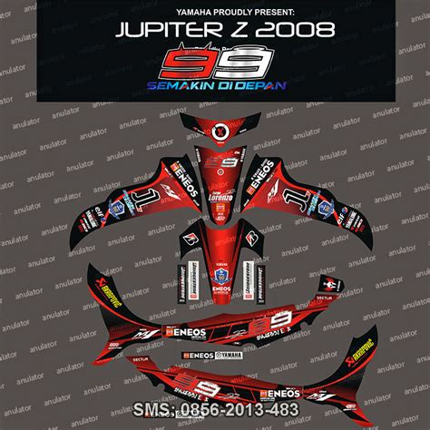 Stiker Striping Yamaha Burhan Jupiter Z Spec A jual stiker striping yamaha jupiter z lorenzo spec b anulator custom