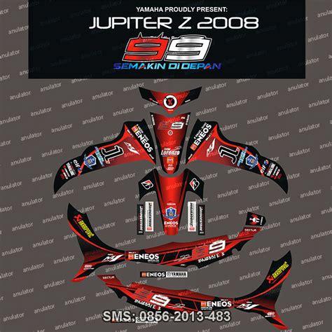 Sticker Striping Motor Stiker Yamaha Jupiter Z Burhan Spec A jual stiker striping yamaha jupiter z lorenzo spec b anulator custom