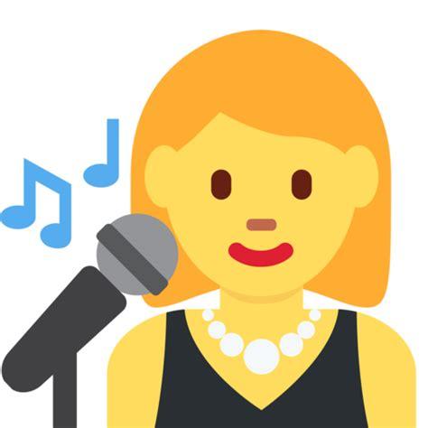 singing emoij png chanteuse emoji