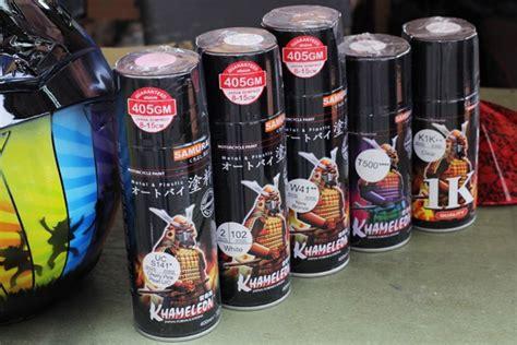 Review Dan Coba Samurai Paint Indonesia Di Helm Snail