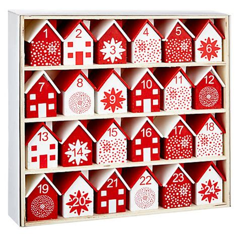 Calendar Buy Canada Buy Lewis Wooden Houses Advent Calendar White