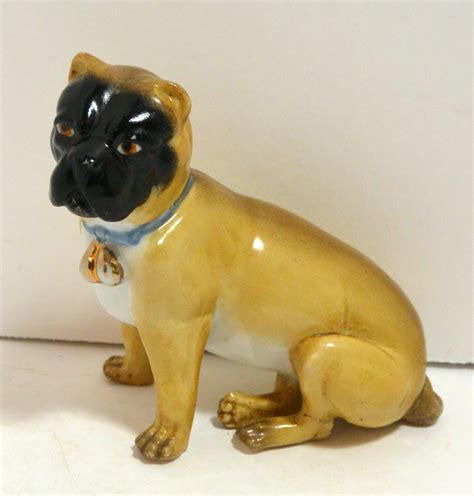 pug in german antique german dresden pug figurine c 1880 a s tale