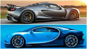 Hennessey Venom Vs Bugatti 2017 Bugatti Chiron Vs Hennessey Venom Gt