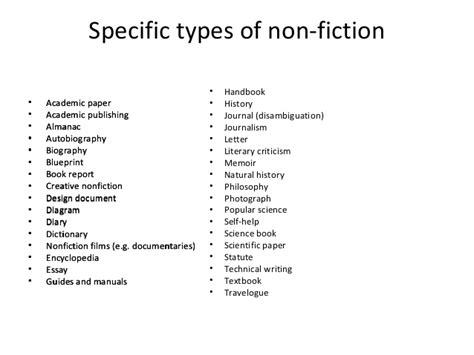 different types of book reports distinction between fiction and non fiction