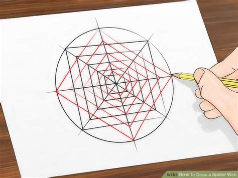 How To Make A Paper Web - 3 ways to draw a spider web wikihow