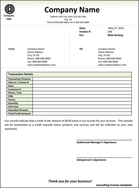 microsoft word consulting invoice template word