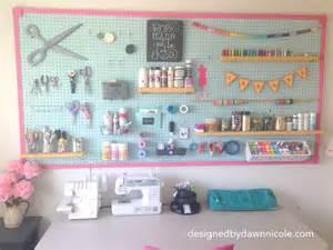 Organization Ideas For Small Bedrooms diy craft room jumbo framed pegboard wall