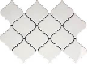 Porcelain Subway Tile Backsplash by 9 79sf Whisper White Arabesque Glazed Porcelain Mosaic Tile
