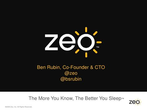 the more the better zeo the more you the better you sleep