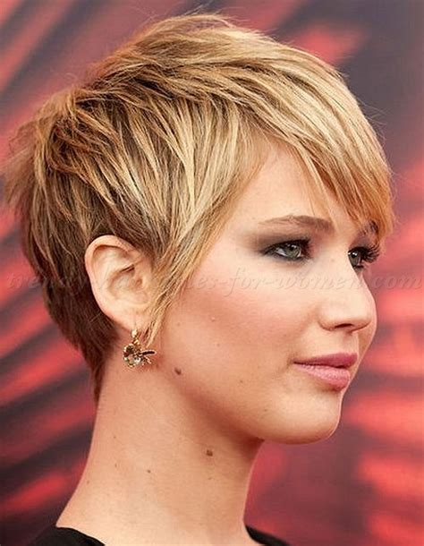 2014 short hairstyles for round faces jennifer lawrence short hair pixie haircut jennifer lawrence pixie cut trendy
