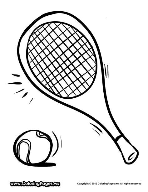 Tennis Racket Coloring Page Sketch Coloring Page Tennis Coloring Pages