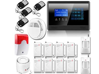 wired house alarm systems wireless wired lcd touch keypad gsm sms home house alarm system security burglar system