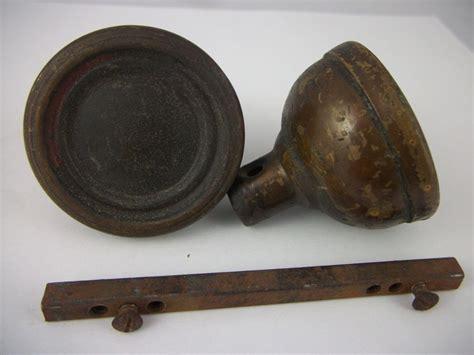 pair of antique arts crafts brass door knobs vintage