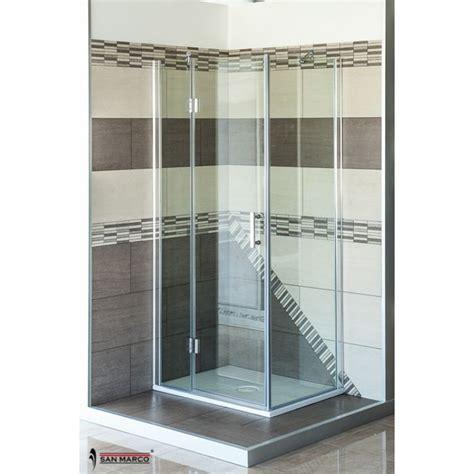 cabina doccia 70x100 box doccia san marco luxor 8 mm porta battente san marco