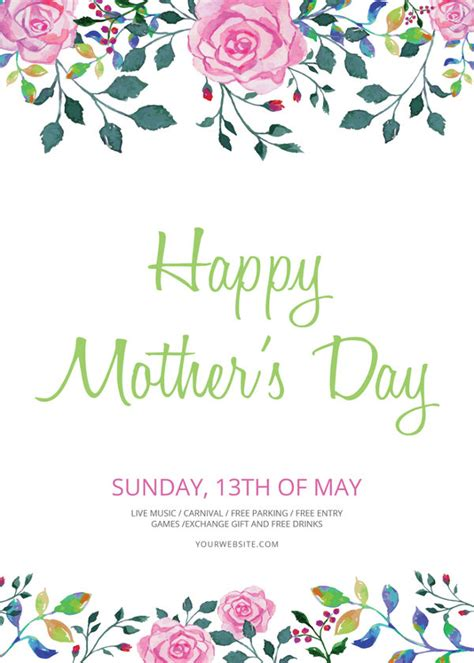 mothers day cards template mac 16 beautiful s day flyer templates designs