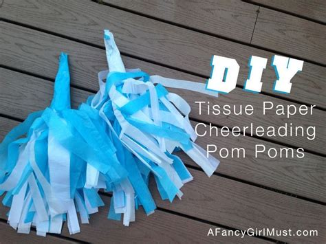 Make Your Own Tissue Paper Pom Poms - 25 best ideas about cheerleading pom poms on