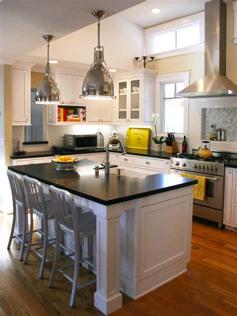 hgtv kitchen islands black and white kitchen island designers portfolio