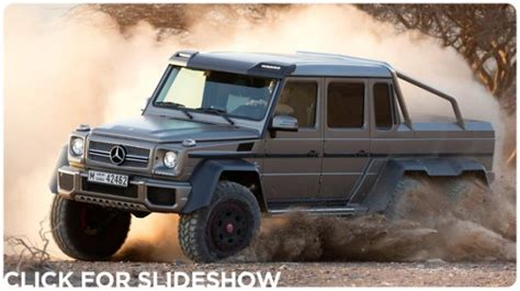 mercedes 6 wheel pickup mercedes benz reveals the g63 amg 6 215 6 a six wheel drive