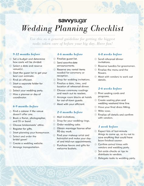wedding planner list of things to do printable download the ultimate wedding planning checklist