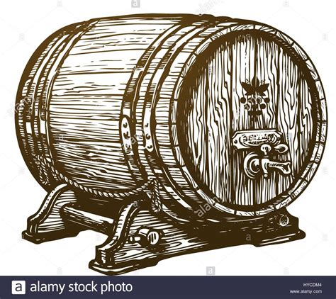 Wooden Clip Soda Mixed wooden wine cask drink oak barrel sketch vintage vector stock vector