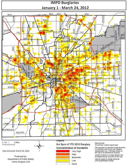 crime map indianapolis that s so gangsta central indiana crime map