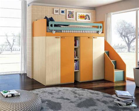 letto su armadio letto a attrezzato con armadio 4 ante e scala
