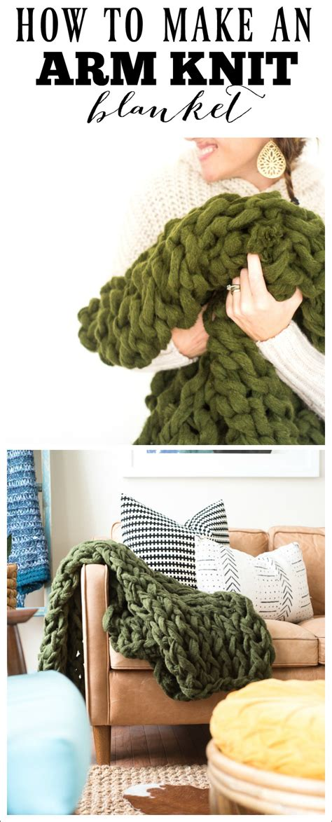 things to arm knit arm knit blanket how to make using chunky yarn