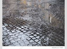 Wet Cobbled Street In Rome Stock Photo I1148131 at FeaturePics Free Clip Art Weather Pictures