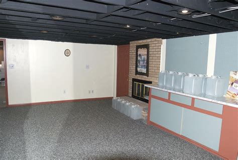 Unfinished Basement Floor Ideas Unfinished Basement Fabric Ceiling Ideas Home Design Ideas Unfinished Basement Floor Ideas