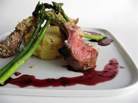 Herb Crusted Rack Of With Wine Jus by Herb Crusted Rack Of With Wine Reduction With
