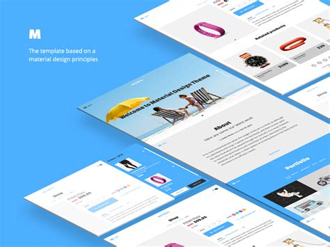 Material Design Template By Andre Revin Dribbble Material Design Website Template