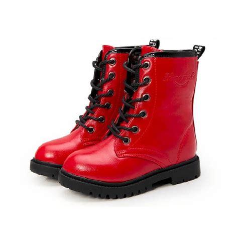 children boots winter leather shoes 2016 autumn