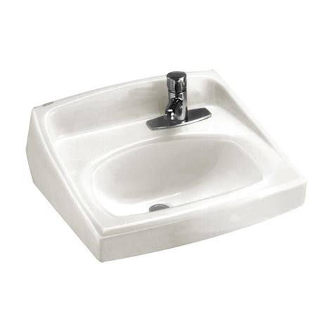 american standard lucerne wall hung bathroom sink in white