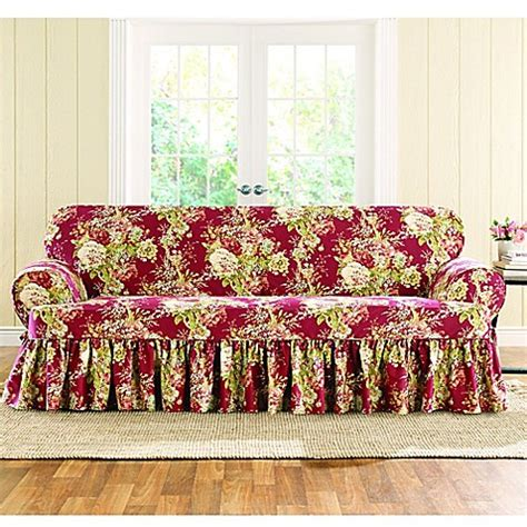 sure fit waverly ballad bouquet sofa slipcover buy sure fit 174 ballad bouquet by waverly t cushion sofa
