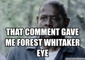 Comment Meme - that comment gave me forest whitaker eye