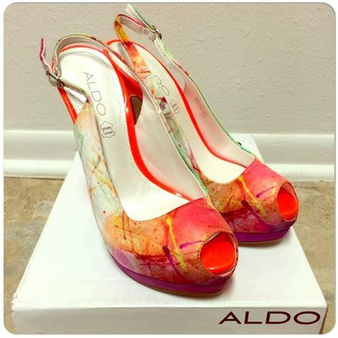 Aldo Heels Sz 37 5 10 aldo shoes splatter platform peep toe stiletto