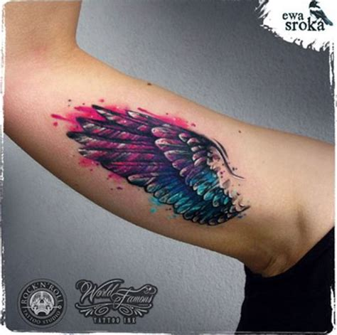 32 best wing tattoos for men and women watercolor